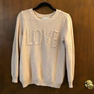 EUC Lauren Conrad LOVE sweater